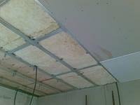Монтаж потолка (прямой)