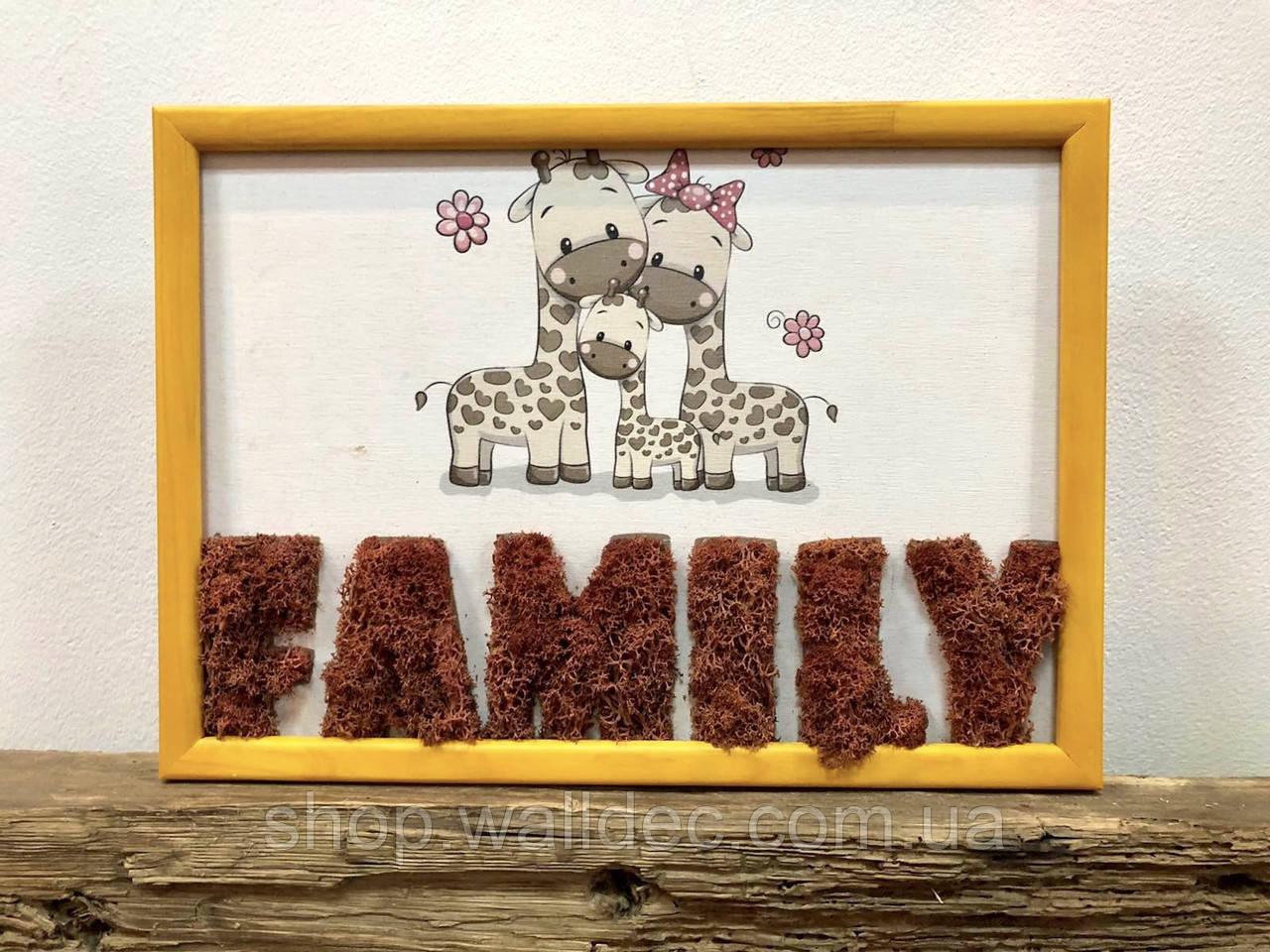 Картина по номерам из мха Family А4