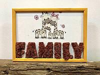 Картина по номерам из мха Family А4, фото 1