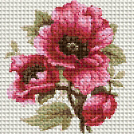 КДИ-0023 Набор алмазной вышивки Розовый мак, фото 2