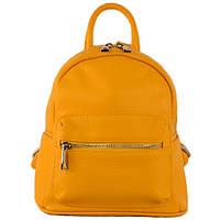 Рюкзак женский кожаный мягкий флотар Virginia Conti 01383 Giallo Желтый (Art01383_yellow)