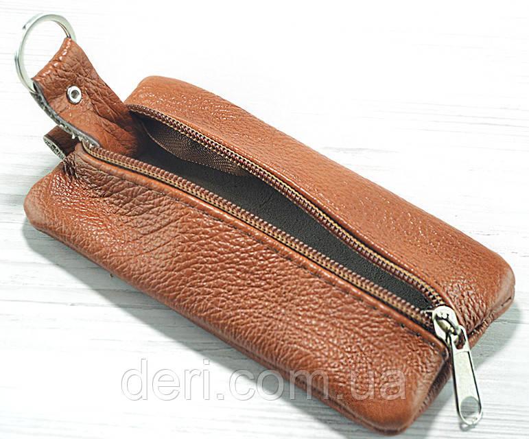 Шкіряна ключниця коричнева