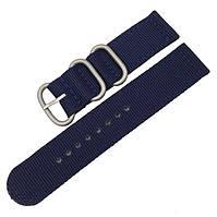 Синий нейлоновый ремешок для часов со стальной пряжкой