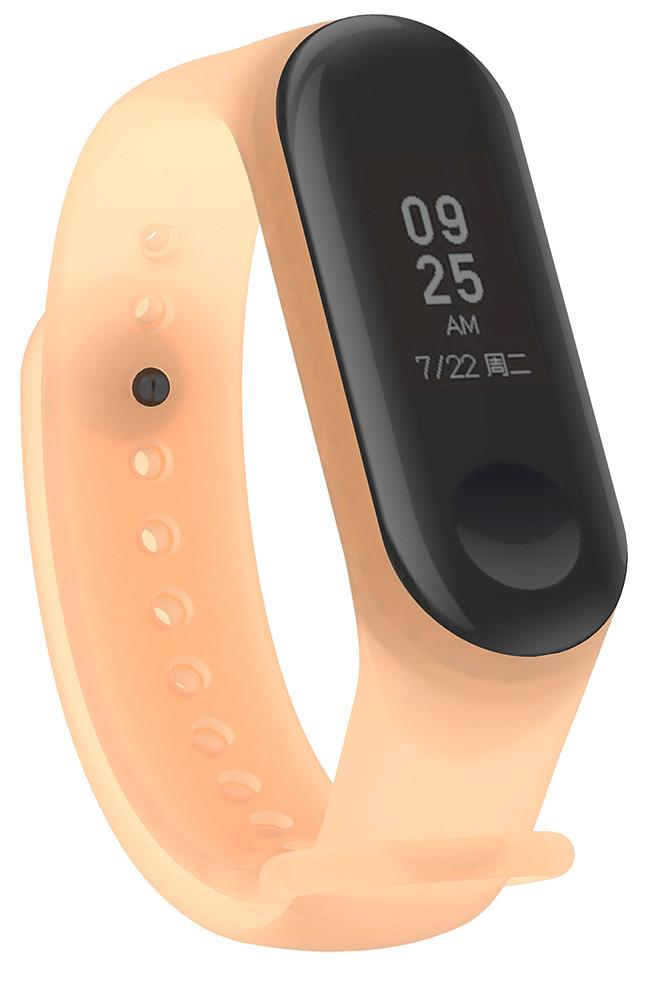 Ремешок NZY для Xiaomi Mi Band 3/4 Силикон Оранжевый / Прозрачный (002259)