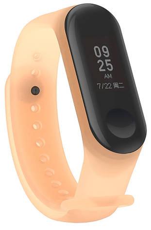 Ремешок NZY для Xiaomi Mi Band 3/4 Силикон Оранжевый / Прозрачный (002259), фото 2
