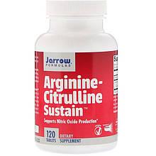 "Аргинин и цитруллин Jarrow Formulas ""Arginine-Citrulline Sustain"" (120 таблеток)"