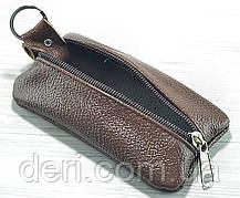 Шкіряна ключниця темно-коричнева