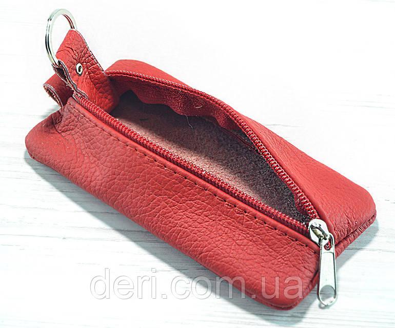 Червона шкіряна ключниця