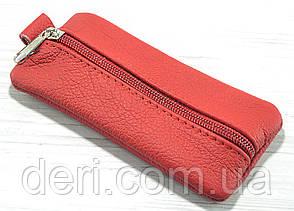 Красная кожаная ключница, фото 2