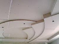 Монтаж потолка сложного 2-х уровневого