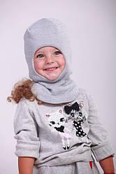 Зимова шапка шлем на дівчинку з люрексовою ниткою