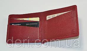 Гаманець шкіряний червоний, фото 3