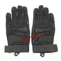 Перчатки тактические полнопалые Blackhawk Ful Finger Black (размер XL)