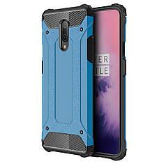 ➾Противоударный чехол Shield для смартфона OnePlus 7 Blue защитная накладка бампер от падений сколов