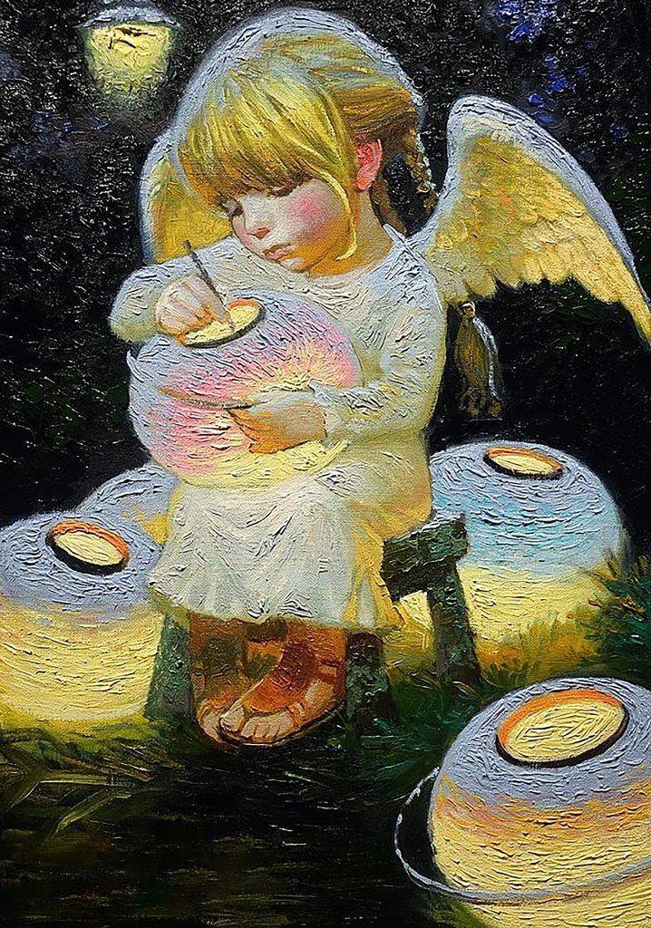 КДИ-0073 Набор алмазной вышивки (мозаики) Фонарики счастья. Художник Nizovtsev Victor