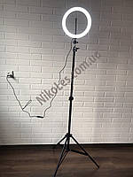 Кольцевая светодиодная лампа 26см кольцевой свет кольцевые лампы со штативом для визажистов блогеров
