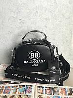 Женская круглая сумка через плечо  Balenciaga Баленсиага реплика
