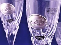 Хрустальный набор из двух свадебных бокалов для шампанского и двух рюмок 128\70 мл