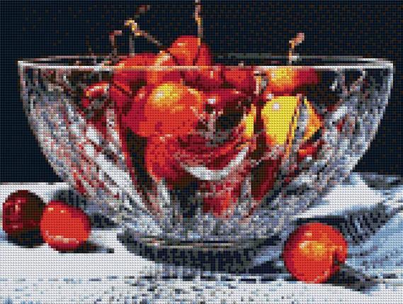 КДИ-0089 Набор алмазной вышивки Черешня в хрустале, фото 2