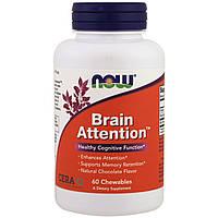 Комплекс для повышения внимания NOW  Brain Attention (60 таблеток)