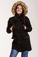 Зимняя женская куртка парка Node women black winter parka