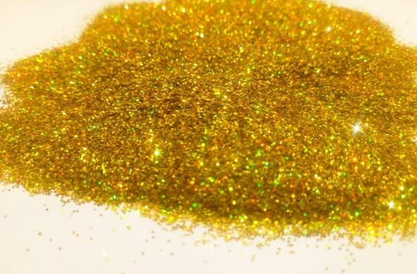 Блестки Золото голографические в форме Точки