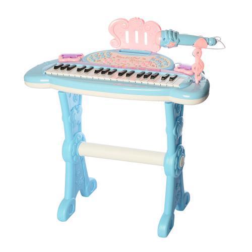 Детский синтезатор на ножках со стульчиком DJ205 музыкальные и световые эффекты