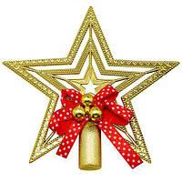 Елочная верхушка - звезда  с деупом 15см 1шт