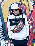 Бананка Sankey сумка на пояс через плече світиться хакі Код 13-1119, фото 5