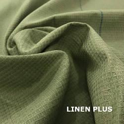Зеленая вафельная ткань для полотенец, 18С101-ШР+К+ГЛ-1-8