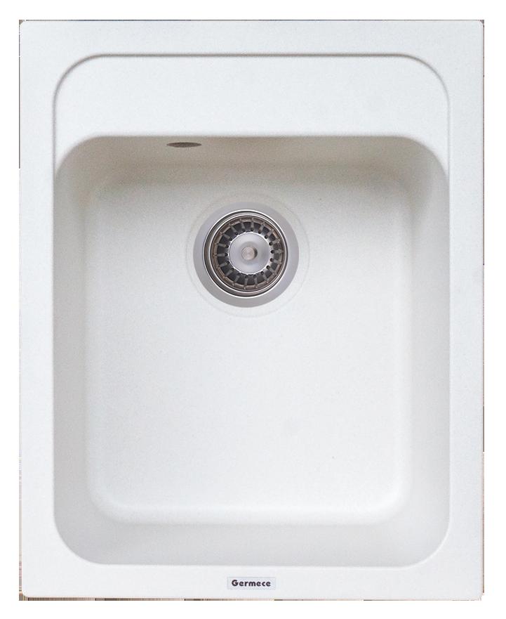 Гранитная мойка Platinum KORRADO 4050 матовая белоснежный