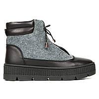 Ботинки из войлока серый (О-878)
