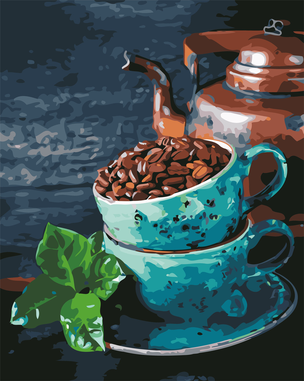 Художественный творческий набор, картина по номерам Кофейные зерна, 40x50 см, «Art Story» (AS0627)