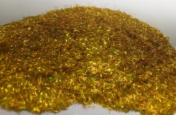 Блестки Золото голографические в форме Палочки