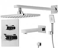 Душевая система с термостатом IMPRESE CENTRUM VR-51400 с изливом для ванны