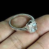 Кольцо Аквамарин (Санта-Мария). Размер 17. Серебро 925 в белом золоте 14 карат, фото 3