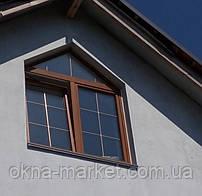 Ламинированные окна со шпросами