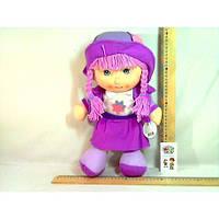 Кукла мягкая муз. в шляпке 3 вида R0718  р.46х30 см.(Лял 0718)