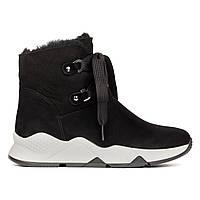 Ботинки с мехом Woman's heel черный (О-879)