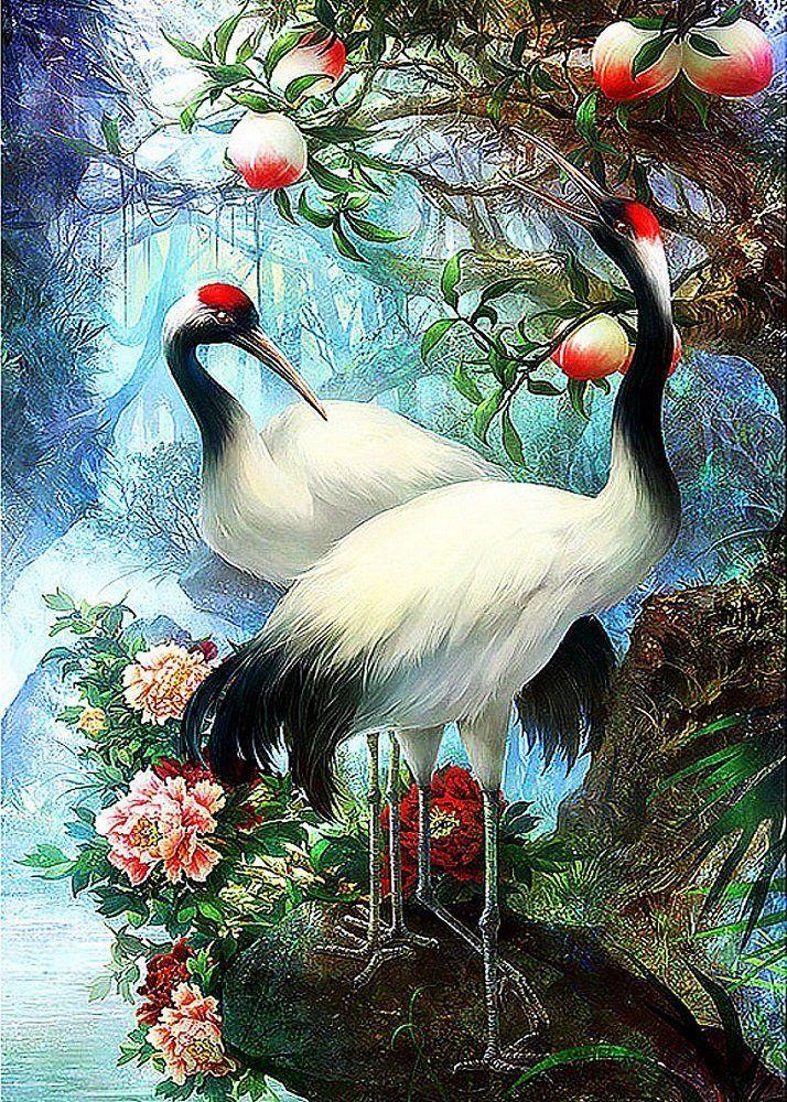 КДИ-0195 Набор алмазной вышивки Журавли – символ любви и счастья