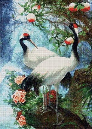КДИ-0195 Набор алмазной вышивки Журавли – символ любви и счастья, фото 2