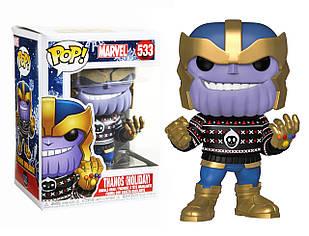 Фигурка Funko Pop Фанко Поп Праздничный Марвел Танос Marvel Holiday Thanos 10 см MH T 533