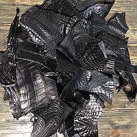 Кожа CROCO 1,4mm обрезь Black