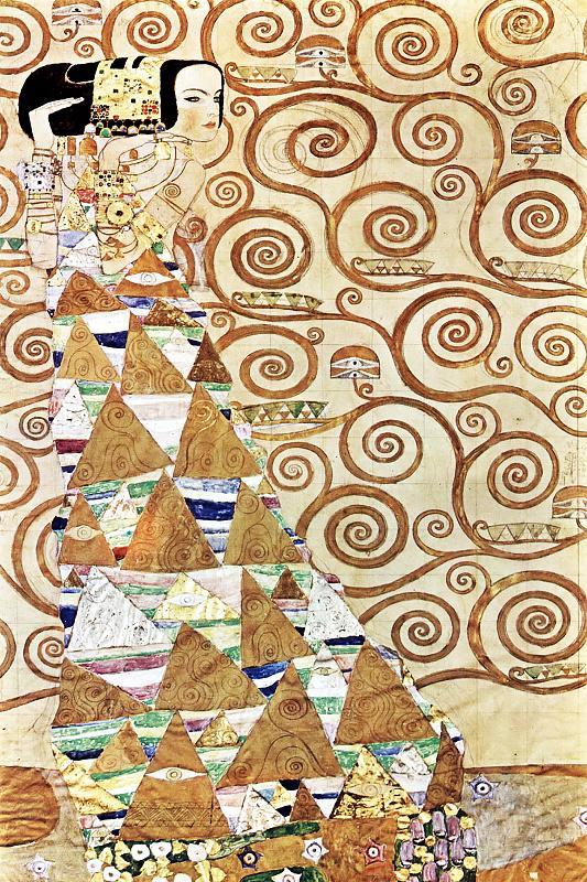 КДИ-0222 Набор алмазной вышивки Ожидание. Художник Gustav Klimt