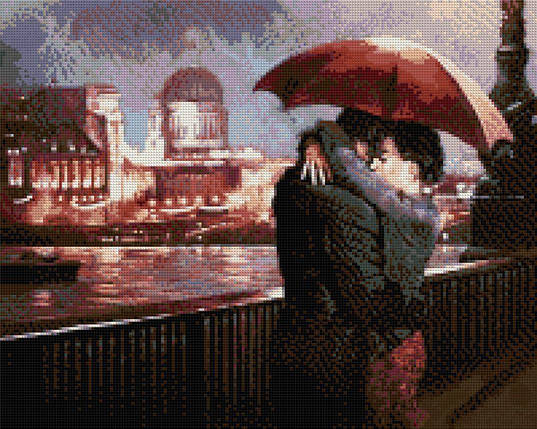КДИ-0233 Набор алмазной вышивки Влюбленные на мосту. Художник Mark Spain, фото 2