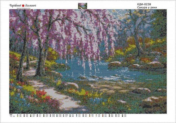 КДИ-0238 Набор алмазной вышивки Сакура о реки. Художник Sung Kim, фото 2