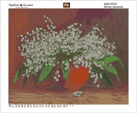 КДИ-0245 Набор алмазной вышивки Белое кружево, фото 2
