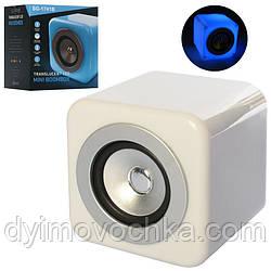 Колонка SG-1741B 12-12-12см, аккум,bluetooth,MP3,6режимов света, USBзарядн