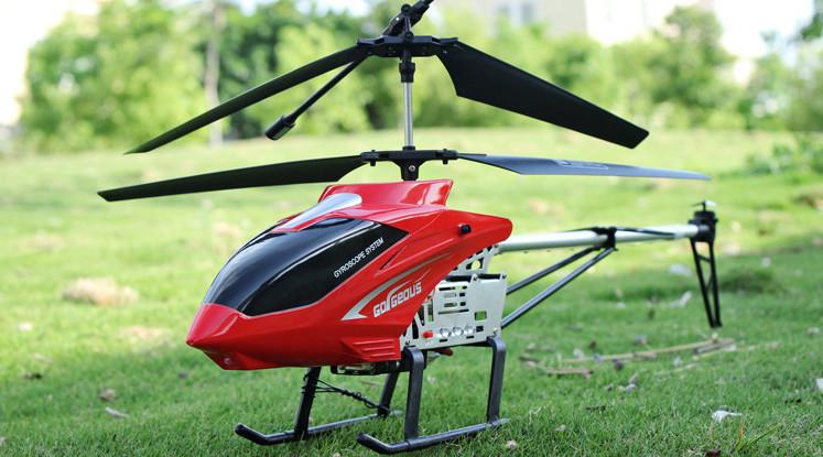 Вертолет на радиоуправлении на металическом каркасе со светодиодами и гироскопом 80см