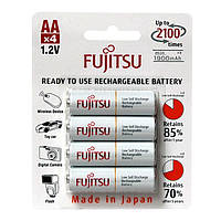 Аккумуляторы АА, 2100 mAh, Fujitsu, 4 шт, 1.2V, Blister (HR-3UTCEX(4B))